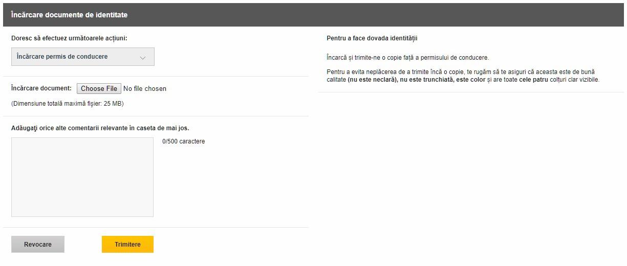 Betfair Ecran Upload Documente Verificare