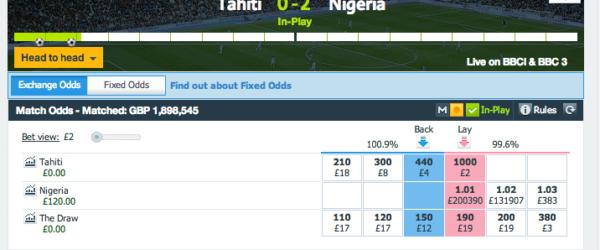 Tahiti vs Nigeria